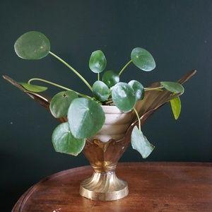 mid century modern art deco plant stand vase